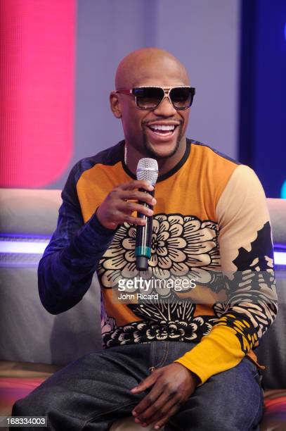 Floyd Mayweather visits BET's 106 Park at BET Studios on May 8 2013 in New York City