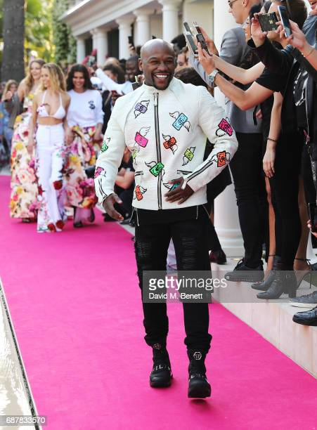 Floyd Mayweather walks the runway at the Philipp Plein Cruise Show 2018 during the 70th annual Cannes Film Festival at on May 24 2017 in Cannes France