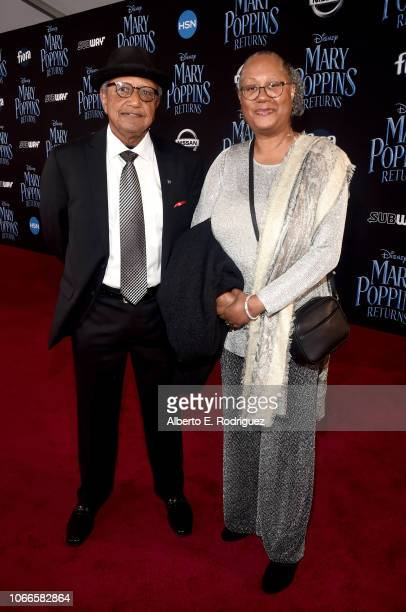 Floyd Norman and Adrienne BrownNorman attend Disney's 'Mary Poppins Returns' World Premiere at the Dolby Theatre on November 29 2018 in Hollywood...