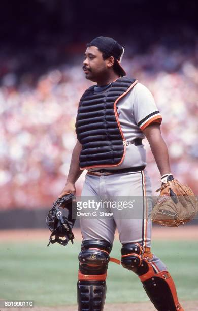 Floyd Rayford of the Baltimore Orioles against the California Angels at the Big A circa 1986 in Anaheim California