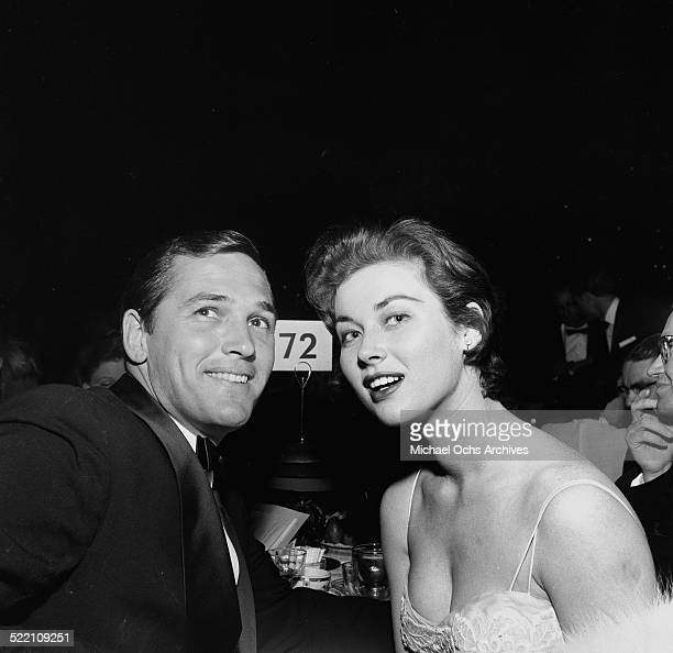 Floyd Simmons and actress Gia Scala attend the Foreign Press Awards on February 241955 in Los AngelesCA
