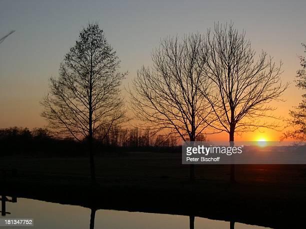 """Fluß Hamme bei der """"Hammehütte"""", Neu Helgoland, Künstlerdorf Worpswede , Niedersachsen, Deutschland, Europa, , Prod.-Nr.: 926/2003, Sonnenuntergang,..."""