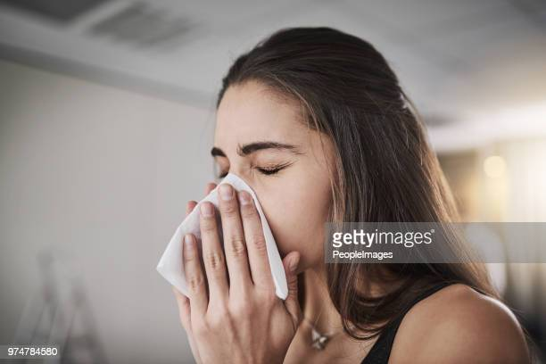 flu season's coming knocking - cold virus stock pictures, royalty-free photos & images