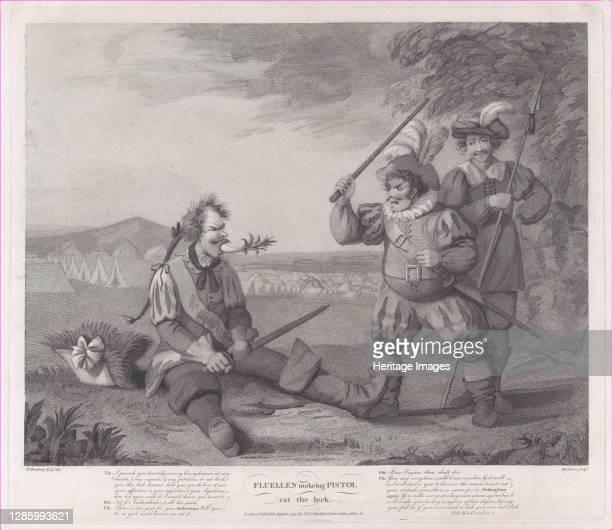 Fluellen Making Pistol Eat the Leek , August 1, 1795. Artist Robert Mitchell Meadows.
