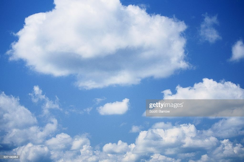 Fluffy clouds : Stock Photo