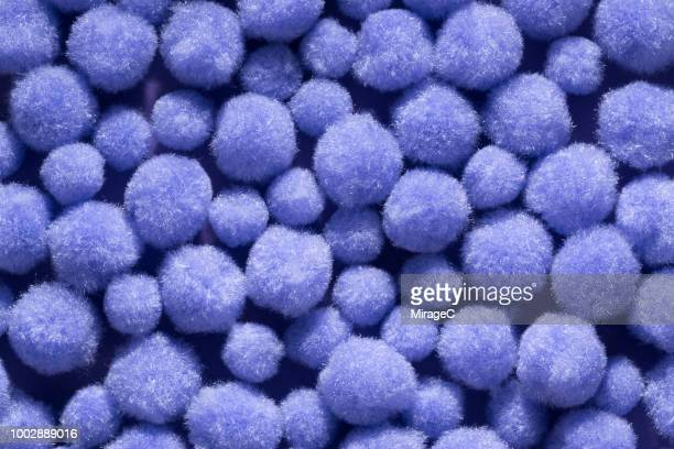 fluffy pom-pom balls - fluffy stock pictures, royalty-free photos & images