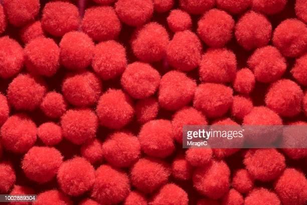 fluffy pom-pom balls - pom pom stock pictures, royalty-free photos & images
