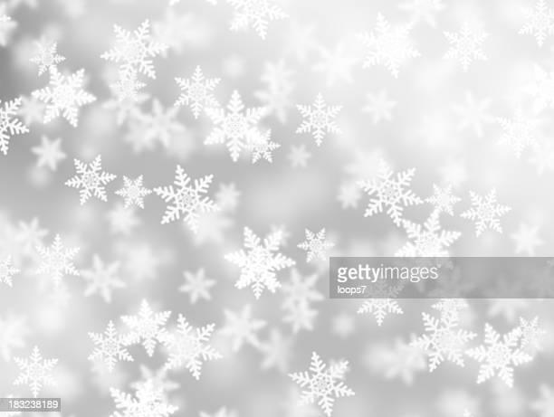 Flauschige Schneeflocken