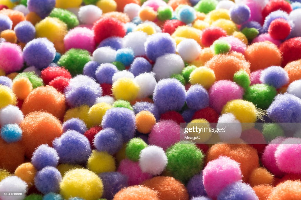 Fluffy Soft Fabric Balls Heap High Res Stock Photo Getty Images