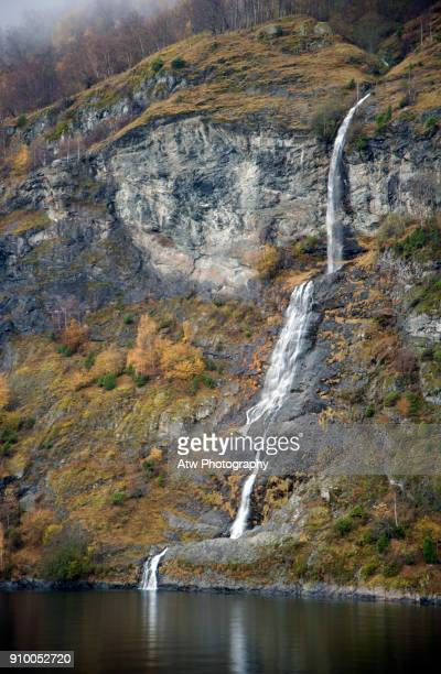 Flugandefossen Waterfall, Aurlandsvangen, Norway