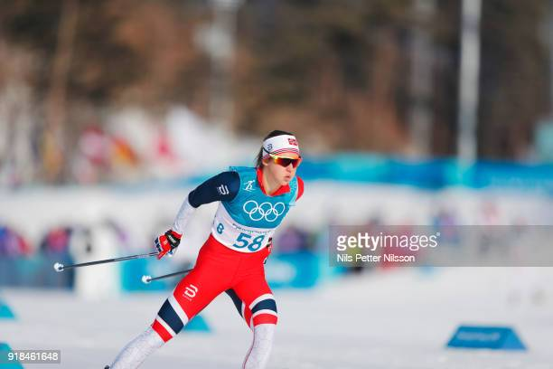Flugstad Oestberg Ingvild of Norway during the women's 10k free technique Cross Country competition at Alpensia CrossCountry Centre on February 15...