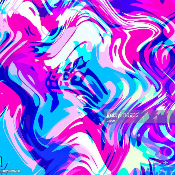 Fluid Trendy colorful wavy background