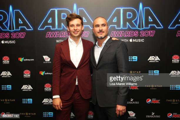Flume and Zane Lowe pose in awards room during the 31st Annual ARIA Awards 2017 at The Star on November 28 2017 in Sydney Australia