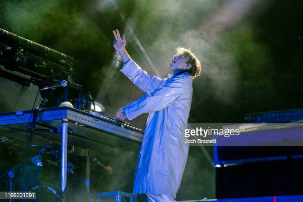 Flume performs at the Lollapalooza Music Festival at Grant Park on August 04 2019 in Chicago Illinois