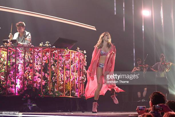 Flume performs Say It featuring Tove Lo on stage during the 30th Annual ARIA Awards 2016 at The Star on November 23 2016 in Sydney Australia