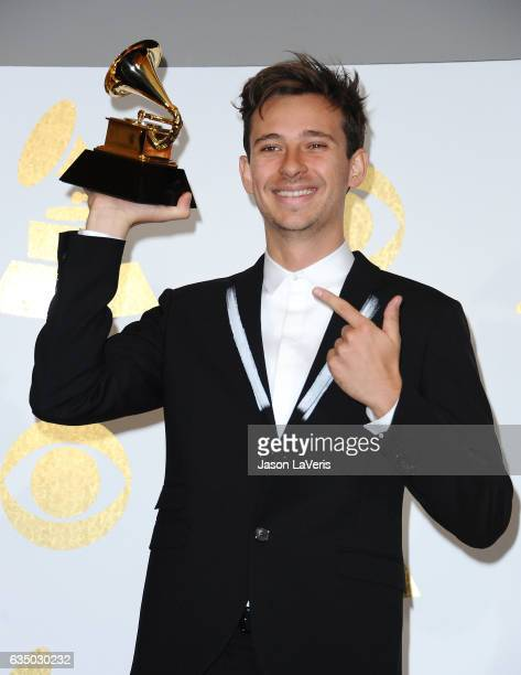 Flume poses in the press room at the 59th GRAMMY Awards at Staples Center on February 12 2017 in Los Angeles California