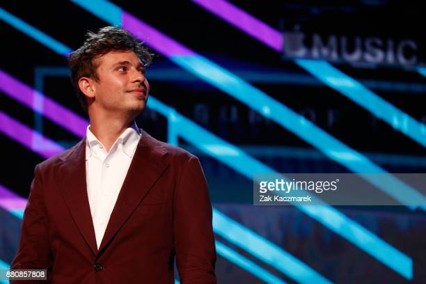 Flume presentrs on stage during the 31st Annual ARIA Awards 2017 at The Star on November 28 2017 in Sydney Australia