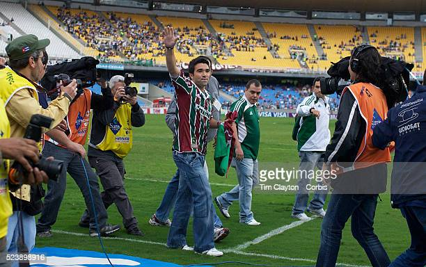 Fluminense new signing Deco is introduced to the crowd before the Fluminense V Internacional match during the Futebol Brasileirao Campeonato...