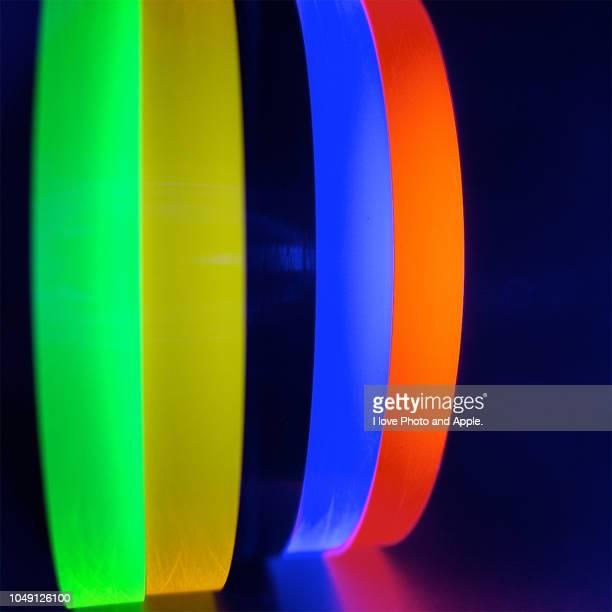 Fluorescent acrylic discs