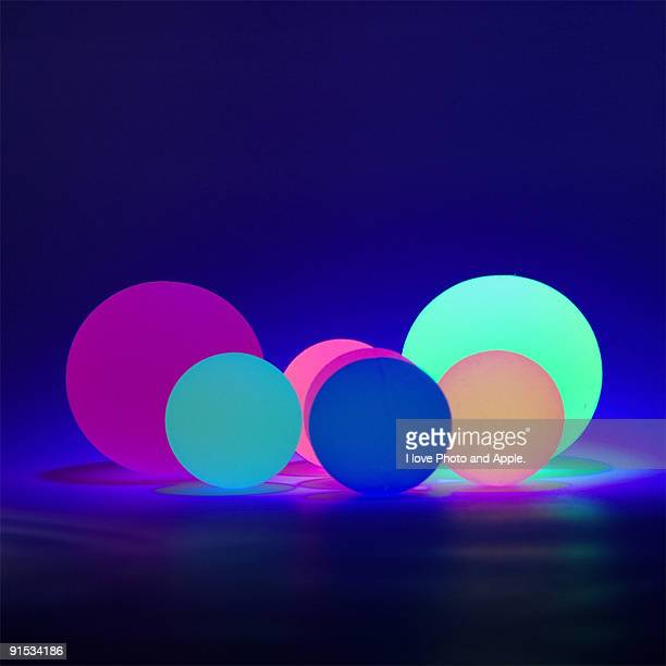 Fluorescent balls and Ultraviolet rays