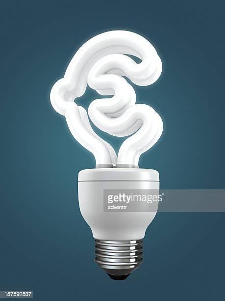 Fluoreszierend Glühbirne mit Euro-Form
