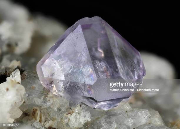 fluorite mineral crystal - fluorite stock pictures, royalty-free photos & images