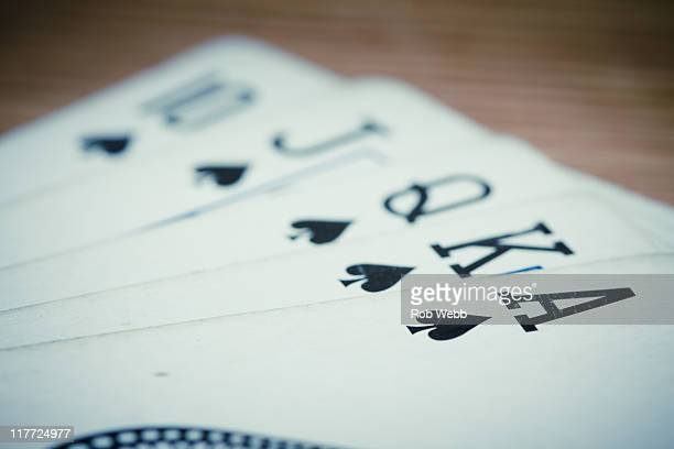 flush with pure joy - royal flush stock photos and pictures