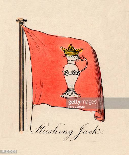 Flushing Jack' 1838 From A Display of the Naval Flags of All Nations Collected from the Best Authorities [Fisher Son Co London 1838] Artist Unknown