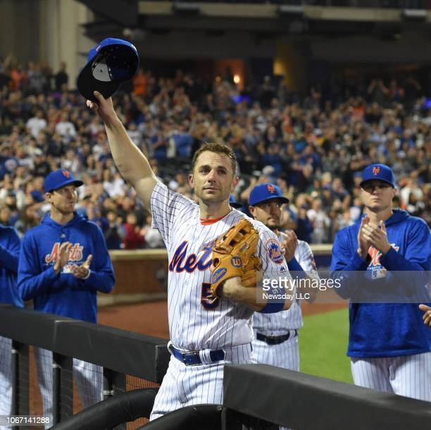 Mets third baseman David Wright leaves the field in the 5th inning his final game on Saturday Sept 29 against the Miami Marlins at Citi Field in...