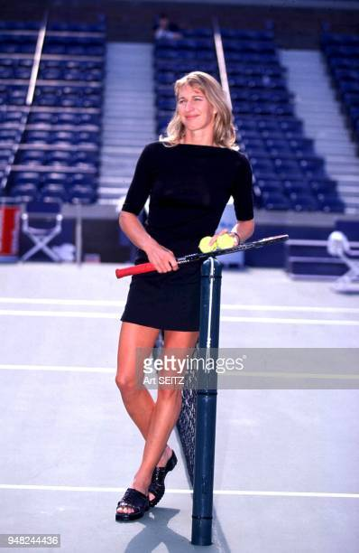 08/00/1999 Flushing New York Steffi Graf following a retirement oriented press conference at the us national tennis center