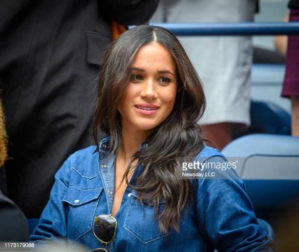 Meghan Markle Duchess of Sussex was in Serena Williams' box during the Williams match against Bianca Andreescu of Canada during the Women's Final at...