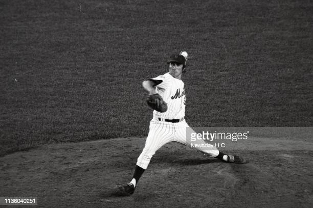 Mets pitcher Jerry Koosman throws the last pitch of the game at Shea Stadium in Flushing New York on September 16 1976