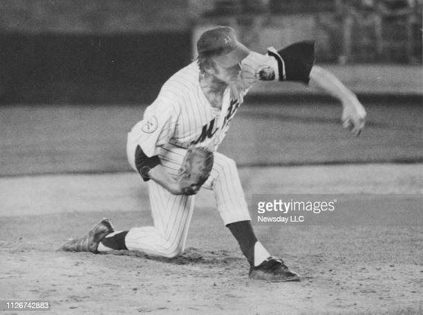 New York Mets lefthanded pitcher Jerry Koosman shown in his pitching motion against the San Diego Padres on May 7 1976 at Shea Stadium in Flushing...