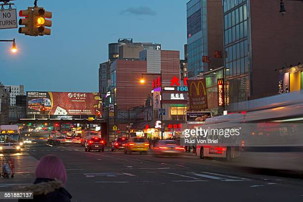 flushing, queens, ny. - flushing queens stock pictures, royalty-free photos & images