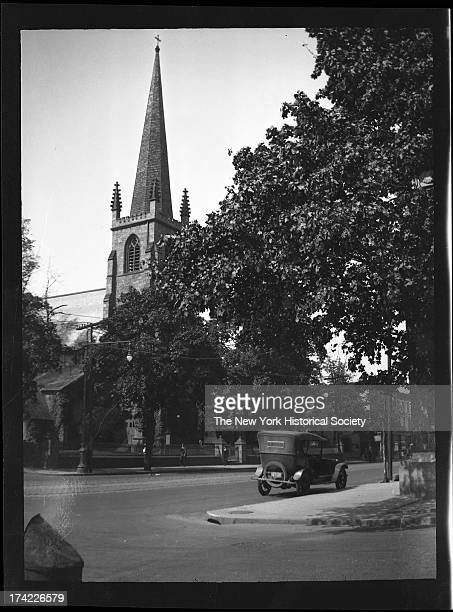 St George's Episcopal Church west side of Main Street from Church Street to Locust Street New York New York 1924