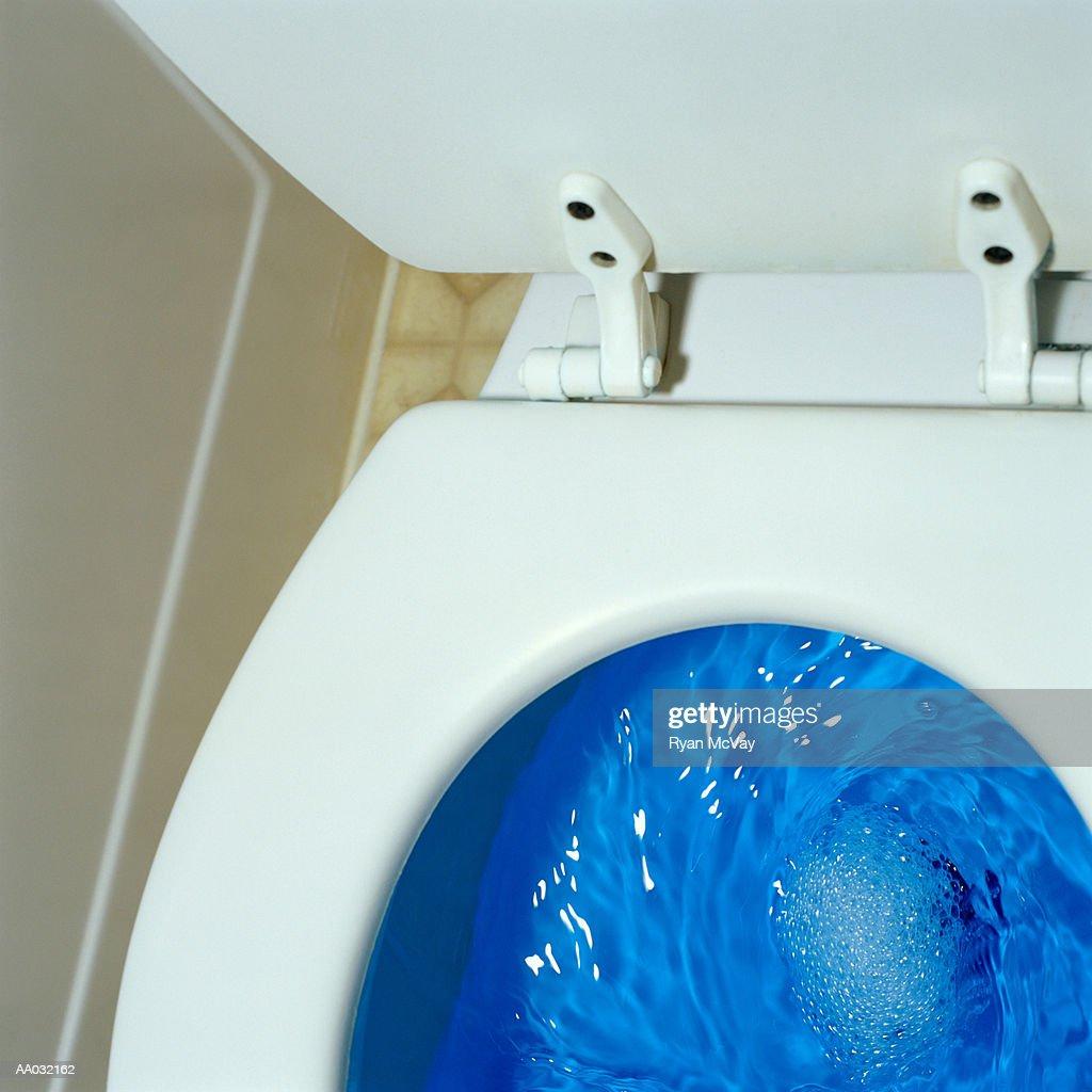 Flushing Toilet : Stock Photo
