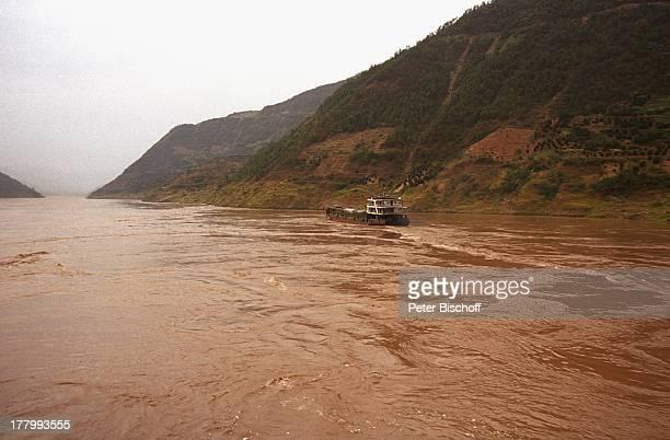 Fluss Jangtse Xian Hauptstadt der Provinz Shanxi China Asien Rundreise Reise Flusskreuzfahrt Gewässer Landschaft Berge Gebirge LG/MW PNr 2154/2001