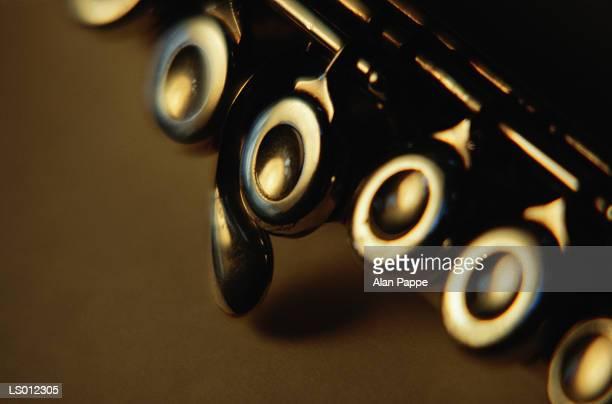 Flute keys, close-up (soft focus)