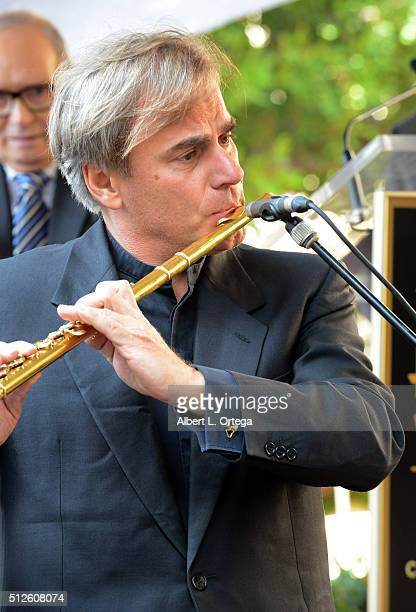 Flutist Andrea Griminelli at the Ennio Morricone Star Ceremony On The Hollywood Walk Of Fame held on February 26 2016 in Hollywood California