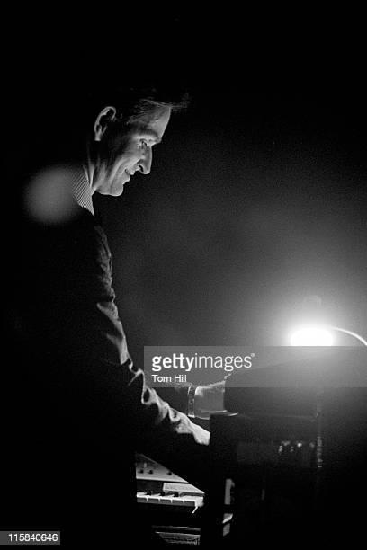 Flutist-keyboardist Florian Schneider of Kraftwerk performs at Alex Cooley's Electric Ballroom on April 21, 1975 in Atlanta, Georgia.