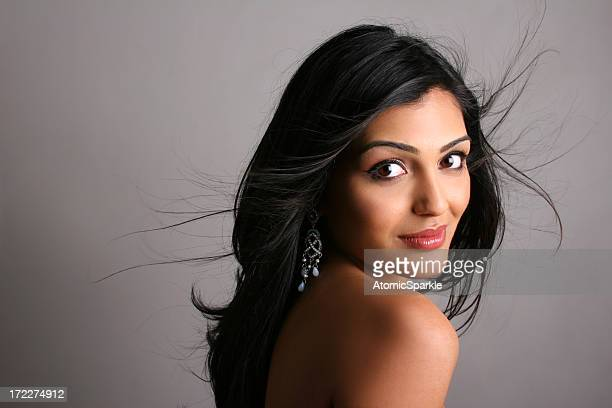 fly away beauty - gina - indian woman stock photos and pictures