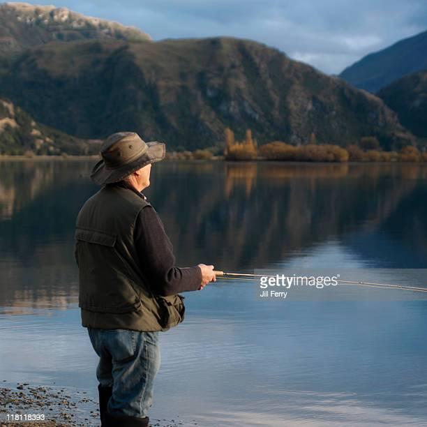 Fly fishing at Lake Wanaka