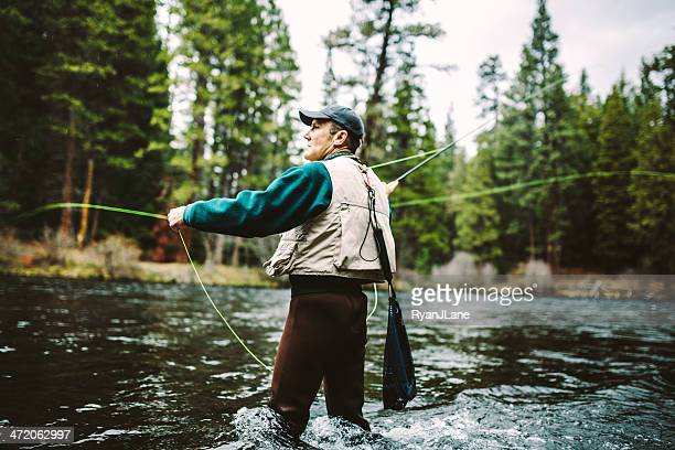 Pesca con mosca en curva, Oregon