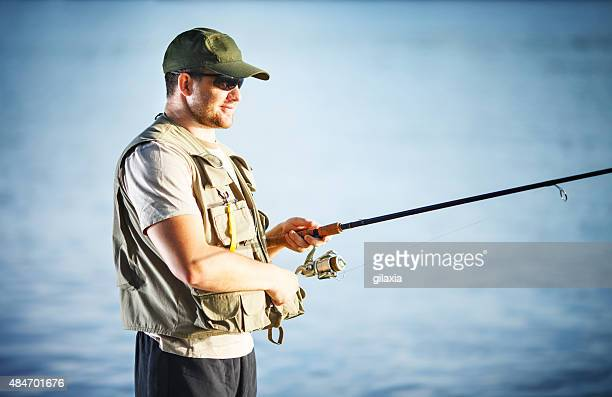 fly fishing on river. - carp stock photos and pictures