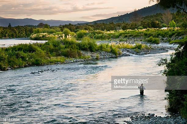 fly fishing - freshwater stock pictures, royalty-free photos & images