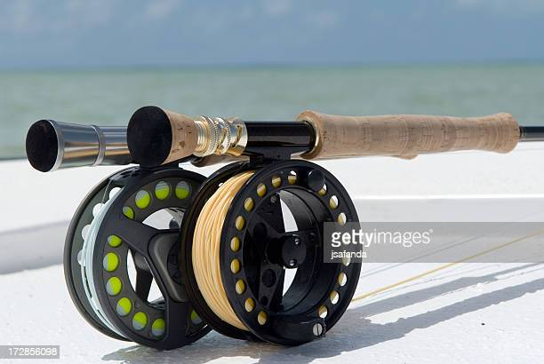 fly fishing salt water - bone fish stock photos and pictures