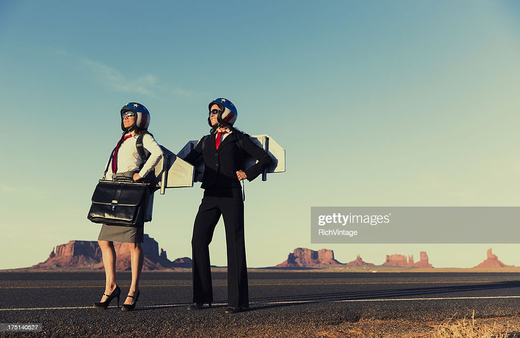 Fly Gals : Stock Photo