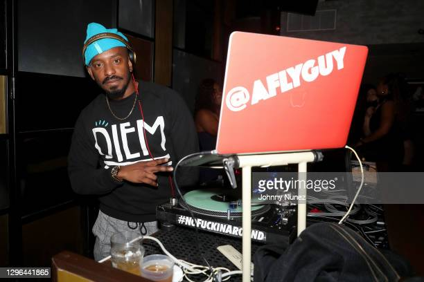 Fly Guy attends Barry Mullineaux's birthday party hosted by 50 Cent on January 14, 2021 in Miami, Florida.