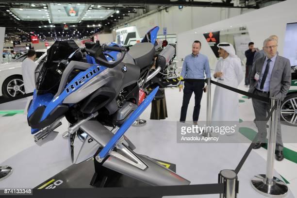 R 1200 fly is displayed during Dubai International Motor Show 2017 at Dubai World Trade Centre in Dubai United Arab Emirates on November 14 2017