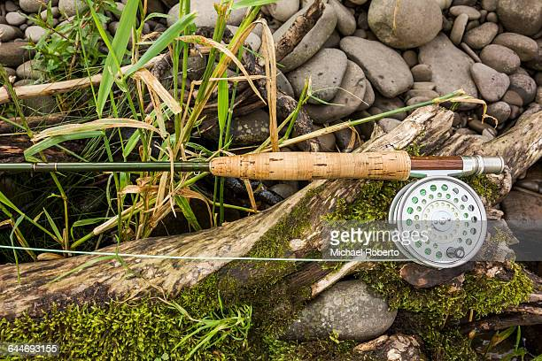 Fly Rod and Reel on Rocks